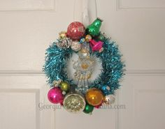 Image of Mini Wreath Blown Glass Trumpetter