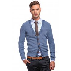 Poze Cardigan albastru DON London Look