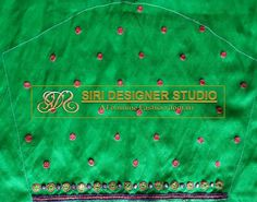 SDS-DB8 FABRICS: rawsilk Simple mirror and stone hand worked embroidery blouse in classy combination. To place an order plz inbox us or mail us at siridesignerstudio@gmail.com Thank you.