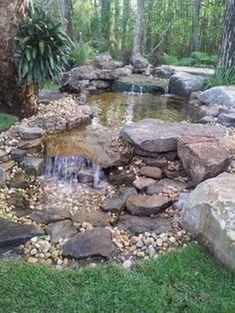 Gorgeous Backyard Ponds Water Garden Landscaping Ideas 47