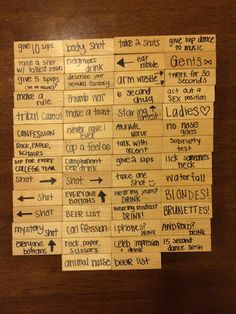 Drunk Jenga with rules! Great for college parties.