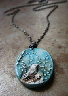 Meadowlark Pendant | Humblebeads Jewelry