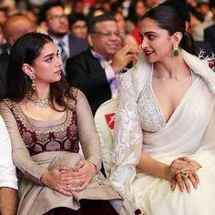 "41.8k Likes, 144 Comments - Bollywood (@bollywood) on Instagram: ""Deepika Padukone and Aditi Rao Hydari at an event. @Bollywood ❤ ❤"""