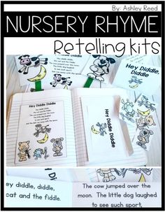 This nursery rhyme retelling kit has everything you need to implement a weekly plan for using nursery rhymes in your preschool or kindergarten curriculum. Nursery Rhymes Kindergarten, Kindergarten Curriculum, Preschool Reading Activities, Preschool Lesson Plans, Preschool Class, Retelling, Early Reading, Kit, Fairy Tales