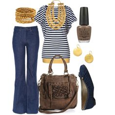 gold and navy stripes