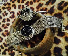 gorgeous bracelet with Owl snap at Stuffolgy