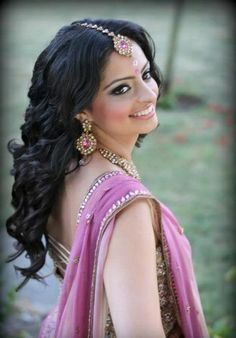 Awesome 9 Best Indian Bridal Hairstyles The Open Curly Long Hairstyle Hairstyles For Men Maxibearus