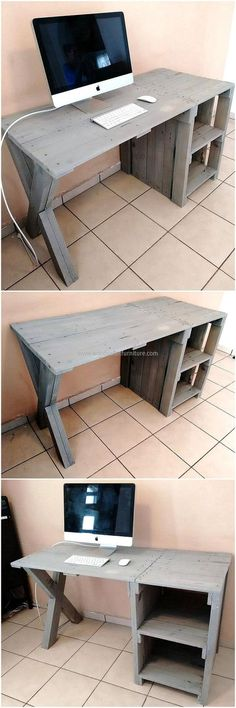 Such a simple and easily crafted this reshaped wood pallet computer table is. We can craft is smart enough to fit our narrow space but it never denies us its core utility of placing your computer. What distinguish us from others is we craft furniture that is in regular domestic use of our households.