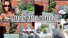 Garden Painting, Balcony Garden, Garden Pots, Patio Makeover, Garden Makeover, Green Candle Holders, Small Outdoor Spaces, Cottage Style