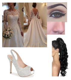 """""""Wedding day """" by katelyn-dowdy ❤ liked on Polyvore featuring Lauren Lorraine, women's clothing, women, female, woman, misses and juniors"""