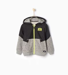 """RUN"" sports sweatshirt - New this week - Boy Sports Sweatshirts, Boys Hoodies, Baby Kids Wear, Luxury Baby Clothes, Kids Fashion Boy, Zara Kids, Ss16, Baby Wearing, Boy Outfits"