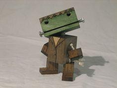 Wooden Frankenstein robot by WoodPlaneAndSimple