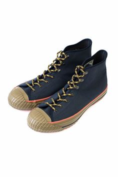 1b30e9f9038550 Nigel Cabourn - MILITARY SHOES HIGH TOP (HALFTEX) - NAVY