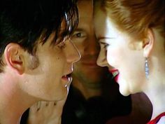 Ewan and Nicole filming a scene with Baz staring on . Moulin Rouge Movie, Le Moulin, Freedom Love, Han And Leia, My Heart Aches, Beautiful Love Stories, 3 Movie, Ewan Mcgregor, Nicole Kidman