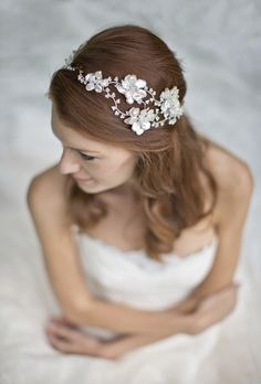 Hermione Harbutt Bridal Collection: Heavenly Headdresses...instead of a flower crown