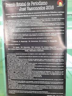 Convocan a participar en el Premio Estatal de Periodismo José Vasconcelos | El Puntero