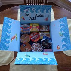 Just Add Water Care Package! Thoughtfully made with numerous convenient items your college kid will enjoy!