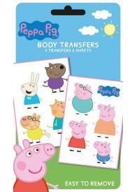 Ce pack de tattoos ou tatouages temporaires pour enfants avec les personnages de Peppa Pig comporte 9 motifs à transférer. Avec ces tattoos, est ce que les enfants auront comme Peppa, envie de sauter à pieds joints dans les flaques ?
