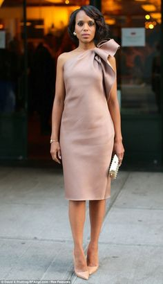 Simple and elegant blush dress