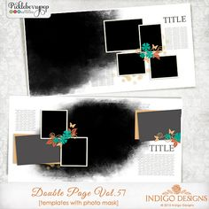 Double Page Templates with Mask Vol.57 by Indigo Designs