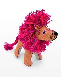 Twoolies Lion handmade stuffed wool animal