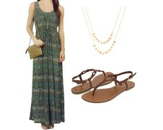 Styling the Veronica M Grecian maxi dress, via Shopping's My Cardio