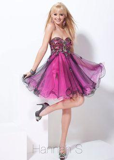2014 Hannah S 27741 Pink Prom Dress