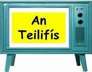An teilifís - The television Gaelic Words, Irish Language, Teaching, Education, School, Learning, Irish, Training, Educational Illustrations