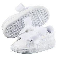 Chaussure Basket Heart Patent pour fille   Puma White-Puma White   PUMA  Pour Enfant   PUMA France 32302af1f6a5