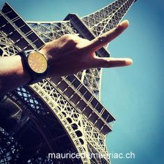 In Paris, with a #mauricedemauriac watch  http://mauricedemauriac.ch/