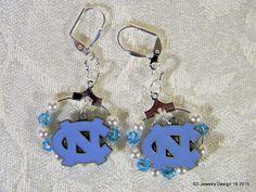 College Charm Dangle Earrings-North Carolina by SDJewelryDesign16