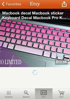 Pink keyboard MacBook Decal Sticker