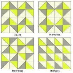Motifs Granny Square, Half Square Triangle Quilts Pattern, Half Square Triangles, Square Quilt, Granny Squares, Quilting Tutorials, Quilting Projects, Quilting Designs, Embroidery Designs