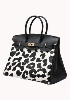 Classic Fashion Leopard 35CM Tote Bag Black