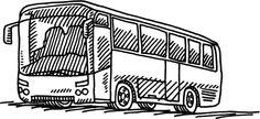 Bus Transportation Drawing