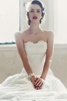 Dark lipped bride