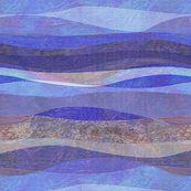 blue rolling waves hills custom fabric by wren_leyland for sale on Spoonflower Landscape Fabric, Abstract Landscape, Wave Hill, Wren, Ocean Waves, Custom Fabric, Spoonflower, Digital Prints, Wallpaper
