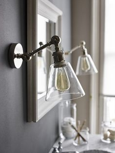 Farmhouse Style Lighting For Your Home Neptune Keats Single Arm Wall Light, Small Living Room Light Fixtures, Living Room Mirrors, Bathroom Light Fixtures, Modern Light Fixtures, Living Room Lighting, Bedroom Lighting, Interior Lighting, Wall Of Mirrors, Wall Sconces