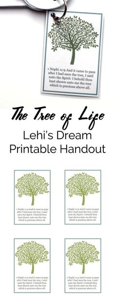Primary Manual 4: Lesson 4, The Tree of Life, free printable handout