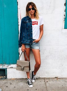 look com short jeans e all star
