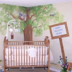 What a great starting point for a woodland theme room