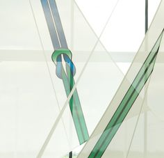 detail of hyper-tension sails designed by Yoke and produced by Architen Landrell, installed in the entrance of DP World London Gateway