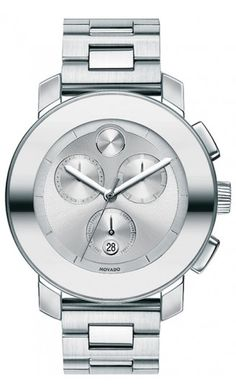 Movado Bold Mid-Size Stainless Steel Chronograph Bracelet Watch