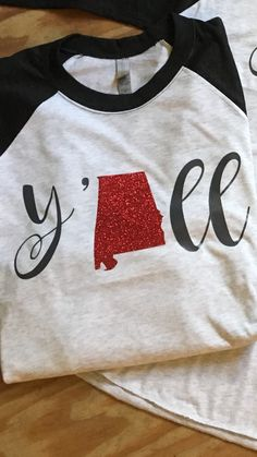alabama raglan,y'all shirt,state shirt,womens raglan baseball tee, womens raglan tee,alabama shirt,girls raglan,girls glitter shirt by StrengthbyDesign on Etsy https://www.etsy.com/listing/473978766/alabama-raglanyall-shirtstate