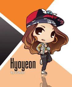 Hyoyeon SNSD Cute Cartoon   SNSD Artistic Gallery