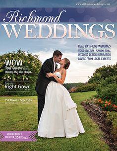 Jingles Bride Ashley in Wtoo's Mimi gracing the cover of Richmond Weddings Magazine!