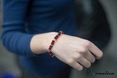 bracciale realizzato con perlineMyuki e cristalli swarovski