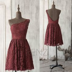 Hey, I found this really awesome Etsy listing at https://www.etsy.com/listing/221988164/2016-lace-maroon-bridesmaid-dress-red