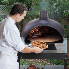 Chapala Black Cast Iron Woodfire Pizza Oven - Bunnings Australia Indoor Pizza Oven, Best Outdoor Pizza Oven, Cast Iron Set, Australia, Outdoor Decor, Black, Food, Black People, Essen