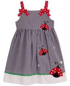 Rare Editions Little Girls' Ladybug Sundress Frocks For Girls, Kids Outfits Girls, Little Girl Dresses, Girl Outfits, Girls Dresses, Cute Dresses, Dress Girl, Little Girl Fashion, Kids Fashion